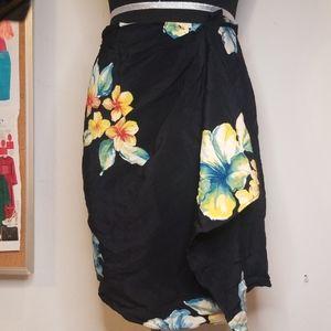 Black wrap style skirt